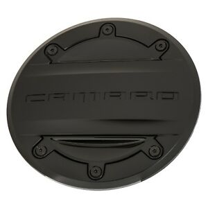 OEM NEW Fuel Tank Door Gas Cap Black w/Camaro Logo 17-20 Chevrolet 23506590