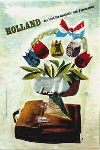 Original vintage poster HOLLAND BUSINESS & VACATIONS c.1950