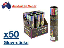 x 50 Pack Glow In The Dark Stick GlowSticks Light Sticks Neon Fun Party Concerts