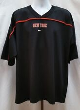 Pre-owned Team Nike New York Knicks Black Short Sleeve Jersey Shirt Size XL B204