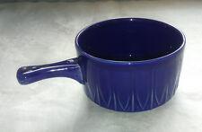 "Vintage/ Retro 4""/ 10cm One Handled Blue Replacement Soup Bowl - FREE P+P"