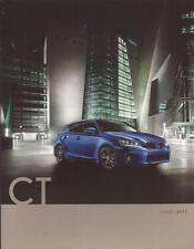 2013 13  Lexus CT original sales brochure