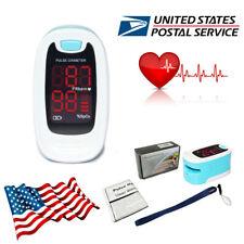 Us Seller Fingertip Pulse Oximeter Blood Oxygen Spo2 Saturation Heart Rate Meter