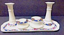 Antique Victorian European 7 piece Porcelain Dresser Set - 19th Century