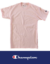 Champion Big Men 100% Cotton Short Sleeve T Shirt Pale Pink XXXL 3XL