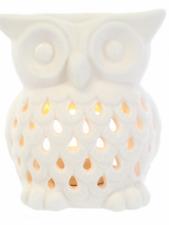Tall owl Ceramic oil burner aroma fragrance melts candle gift present Christmas