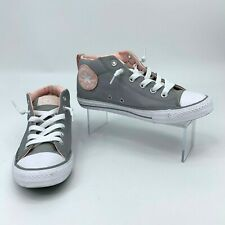 Converse Chuck Taylor Sneaker Youth Girls Size 5 All Star Street Mid-Top Gray