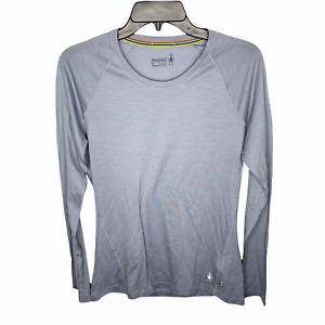 Smartwool Womens Merino 150 Long Sleeve Base Layer Shirt Medium Light Gray M