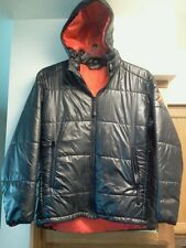 SMITH Hooded Insulated Puffy Jacket, mens Large, black/red