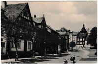 Ansichtskarte Stadtlengsfeld/Rhön - Marktstrasse mit Passanten/Roller - s/w