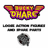 Vtg Bucky O'Hare Action Figures Spare Parts Accessories Weapons Hasbro 90s