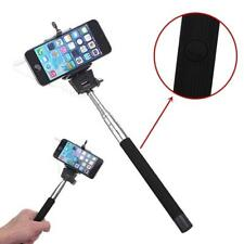 Travel Folding Wired Selfi Selfie Stick Monopod Self-Pole for iPhone Androidㄸ