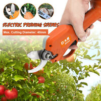 40mm 21V Cordless Electric Pruning Shears Li-ion Secateur Garden Branch Cutter