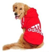 Hoodie Coat Red Cozy Soft Sweatshirt Sweater Clothing For Medium Large Pet Dog