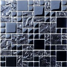 Cut down sample of ripple modular gloss glass mosaic tiles
