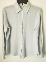 Brooks Brothers 346 Womens Pale Blue Button Down 100% Irish Linen Blouse Small S