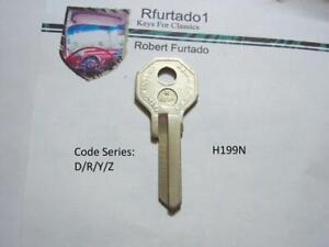 Key Blank for Vintage Renault , Dauphine , Domaine , Fregate  (see code series)