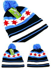 Chicago Leader New Beanie Knit City of Flag Bulls Alt Black Blue Red Era Hat Cap