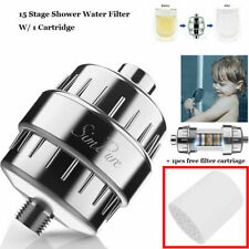 15Stage Shower Water Filter w/Vitamin C for Hard Water Remove Chlorine Fluorid