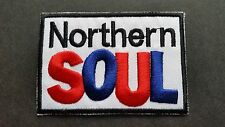 MOD SKA SCOOTER SEW ON / IRON ON PATCH:- NORTHERN SOUL (e) KEEP THE FAITH BLOCK