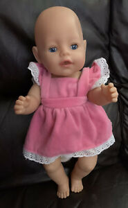 """Zapf Creations Baby Born Doll Drink Wets 2013 Open Close Blue Eyes Untested 16"""""""