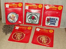 Vintage 1974 Happy Patches Three Fish Inc Iron On Boones Farm Nice Day New