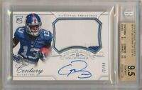 ODELL BECKHAM JR. 2014 NATIONAL TREASURES RC AUTO PATCH SP #/99 BGS 9.5 GEM 10