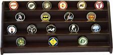 4 Rows Shelf Challenge Coin Holder Display Casino Chips Holder Cherry Finish