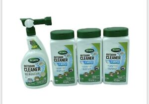 Scotts OxiClean Outdoor Surface Cleaner Wipes & Cleaner Lot of 4 Items
