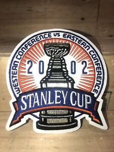 2002 STANLEY CUP FINALS EMBROIDERED Red Wings vs Hurricanes NHL Hockey PATCH