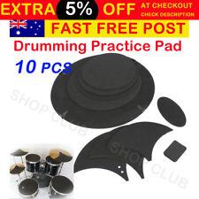 10Pcs Bass Sound off / Quiet Drum Mute Silencer Drumming Rubber Practice Pad Set