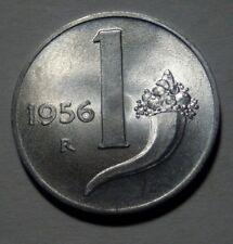 1 LIRA 1956 FIOR DI CONIO LUSTRO DI ZECCA  DA ROTOLINO ITALY QUALITY TOP!