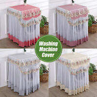 Lace Dustproof Protector Floral Washing Machine Cover 60*60*85cm For Home Decor