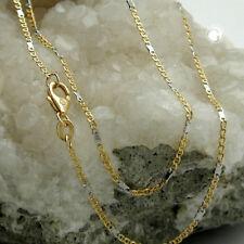 585 Goldkette Halskette Kette 45cm Stegpanzer bicolor, 14Kt GOLD