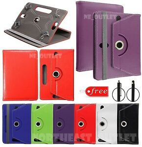 """360° Rotating Smart Case Cover Stand Fits EE JAY 8"""" Inch Tablet with Free Stylus"""