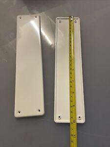 Door Finger Plate White Plastic x 2