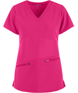 Jockey Women Classic Fit Conquer V-Neck Scrub 2445  Top Assorted Colors and Size
