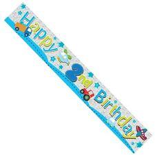 Happy 2nd Birthday Banner Male  Boy  (BA1013)