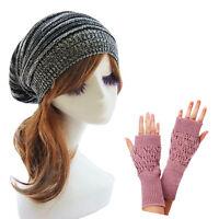 Winter Warmer Women Hats Caps Ladies Fingerless Gloves Big Discount Favorable UK