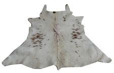 "Cowhide Rugs Calf Hide Cow Skin Rug (37""x39"") Brown and White CH8114"