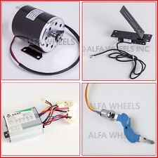 500 W 24 V DC electric Kart motor kit w base+speed control+Foot Throttle+keylock