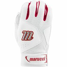 New listing Marucci 2020 Quest Baseball Batting Gloves White/Red Adult Small