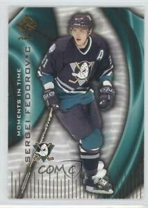 2003-04 Pacific Private Stock Reserve Moments in Time Sergei Fedorov #1 HOF