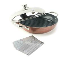 Simply Ming Elite Hammered Ceramic Nonstick Stovetop Oven Pan Copper Bronze NEW