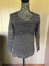 Ava Textured Knit Lagenlook Boxy Sweater Shirt Top S. Made In Turkey