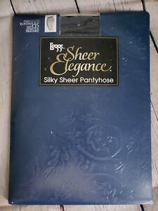 L'eggs Sheer Elegance TRUE NAVY Silky Sheer Pantyhose Control Top Size CD 1 pair