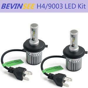 H4 For Suzuki Burgman 650 AN650 AN650A ABS 2003-2017 LED Headlight 2x 9003 Bulbs