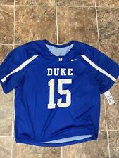 Nike Duke Blue Devils Lacrosse Face-off Digital SS Jersey Men's L Blue 707060