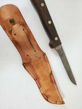 "Vintage Dexter 13G5NR-RG Boning / Fishing Knife- Rivet Wood Handle w/ Sheeth 5"""