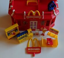 Mcdonald's Restaurant Carry-Along Play Set w/ Accessories 2003 CDI Handle